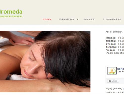 Hjemmeside til Klinik Andromeda