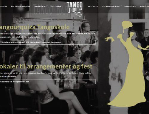 Hjemmeside til Tango Urquiza