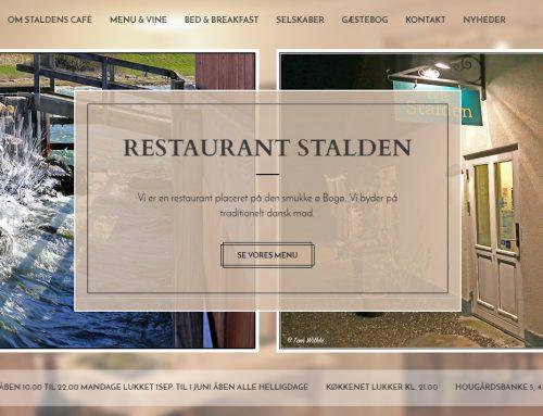 Hjemmeside til Staldens Café