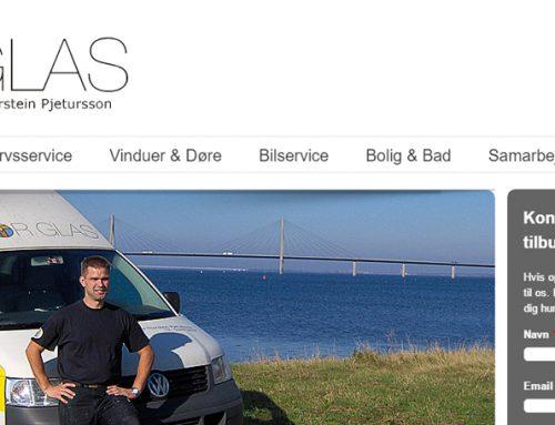Hjemmeside til ThorGlas