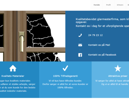Hjemmeside til Hovedstadens Glarmester